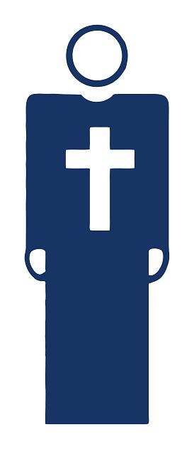 Man Wearing Large Cross