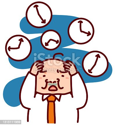 istock A man who is worried about time. 1315111959