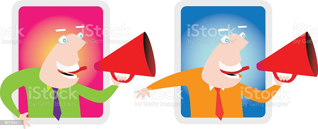 Man with a megaphone royalty-free stock vector art