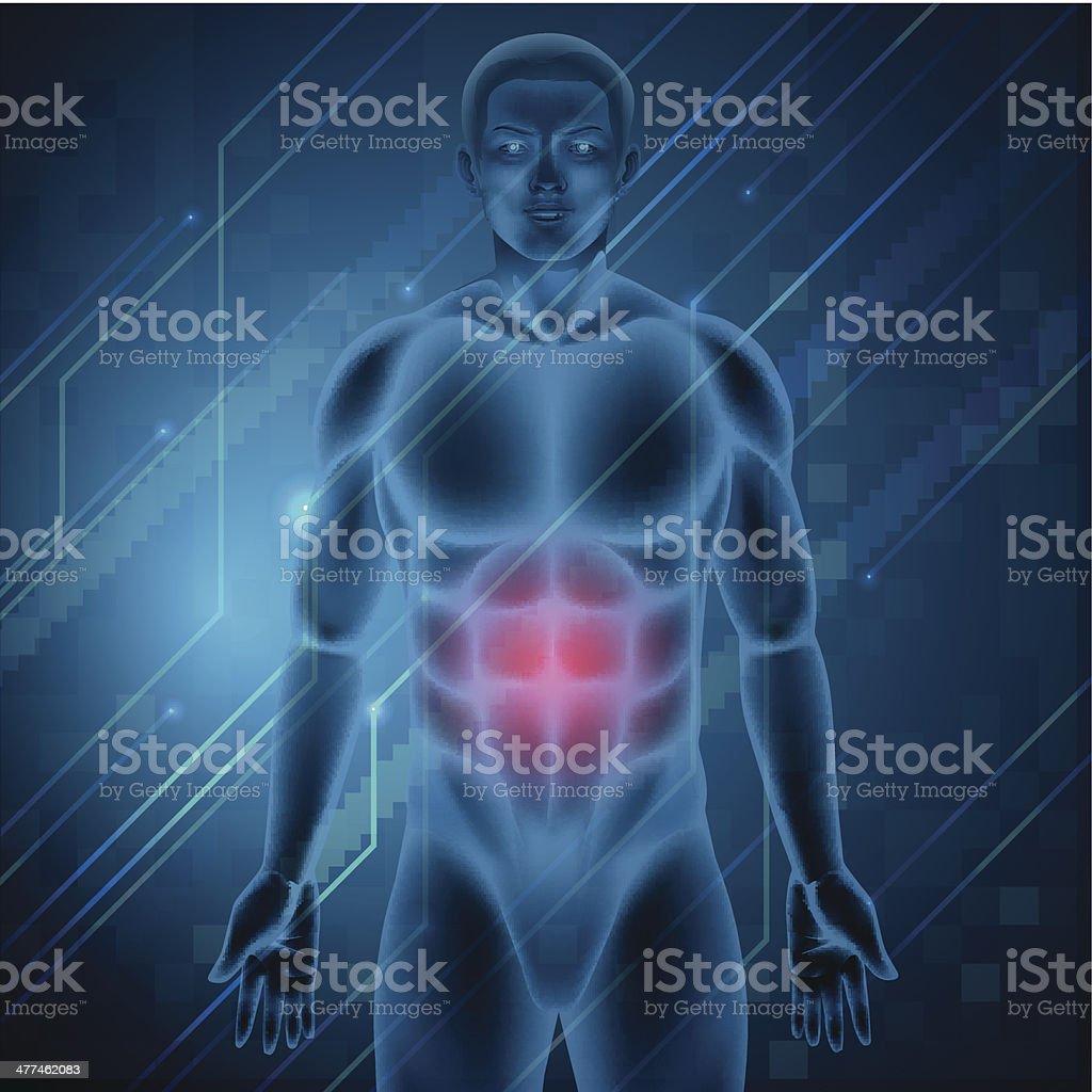 Ilustración de Hombre Con Dolor De Estómago y más banco de imágenes ...