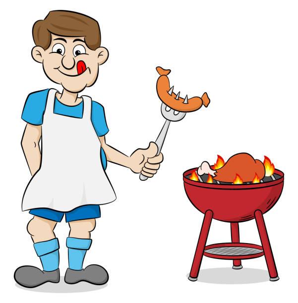 barbecue chicken clip art vector images illustrations istock. Black Bedroom Furniture Sets. Home Design Ideas