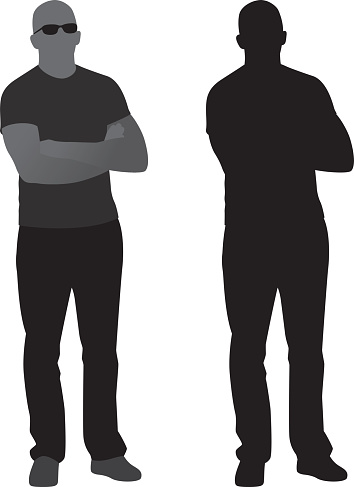 Man with Arms Crossed Silhouette