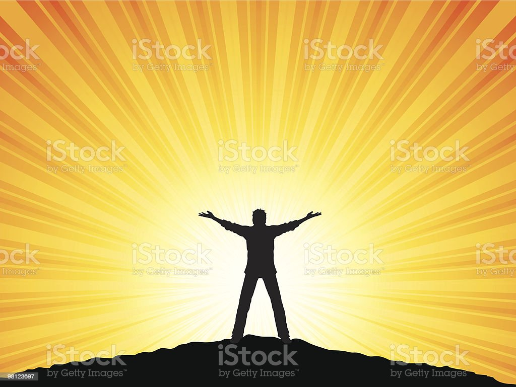 Man with arms raised royalty-free man with arms raised stock vector art & more images of abstract