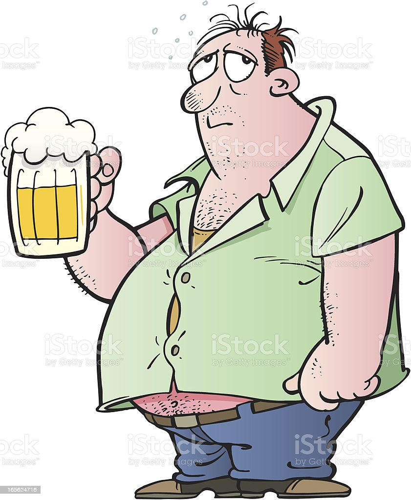 Man with beer royalty-free stock vector art