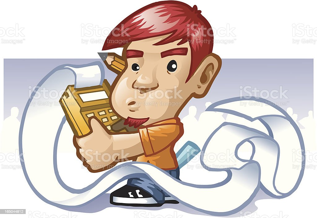 man with calculator royalty-free man with calculator stock vector art & more images of boys