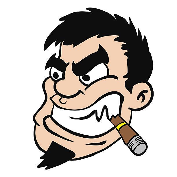 man with cigar - old man smoking cigar stock illustrations, clip art, cartoons, & icons