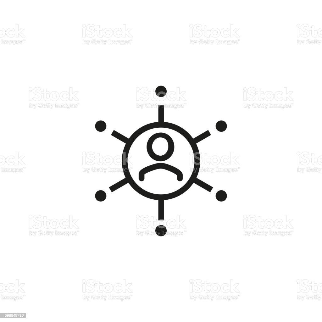 具有連接連結圖示的人 - 免版稅一起圖庫向量圖形