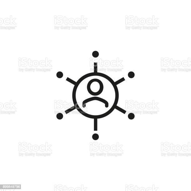具有連接連結圖示的人向量圖形及更多一起圖片