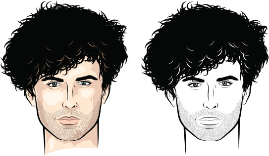 Man with lots of curls