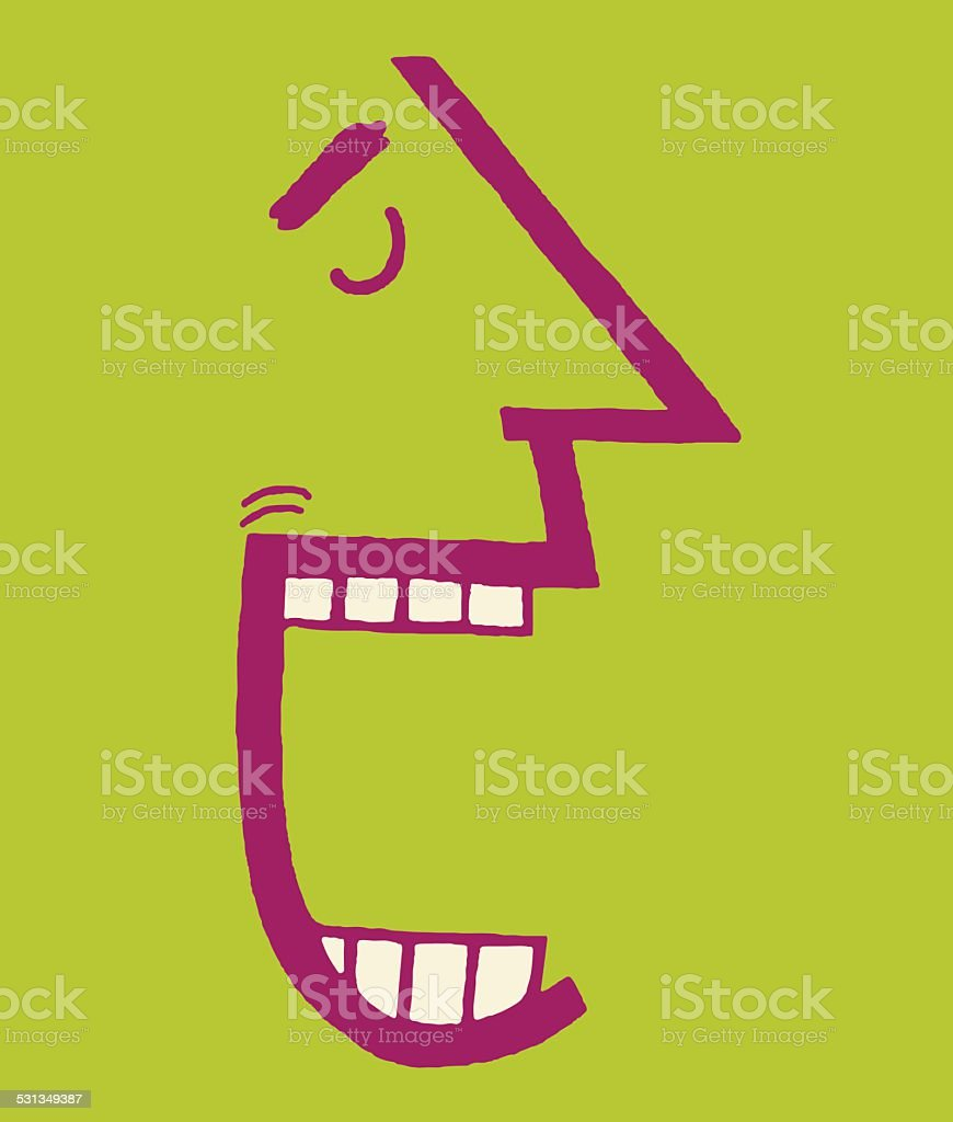 Man With Mouth Open vector art illustration