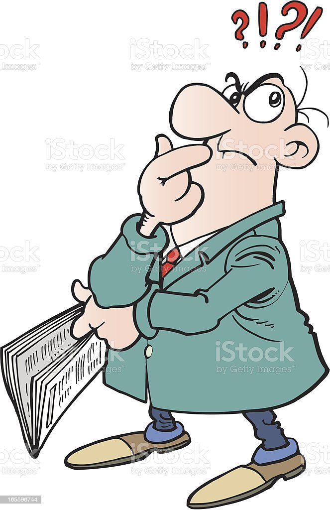 Man with newspaper royalty-free man with newspaper stock vector art & more images of adult