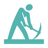 istock Man with Pick Axe 1003598562