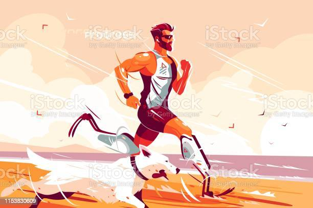 Man with prosthetic legs running on seashore vector id1153830609?b=1&k=6&m=1153830609&s=612x612&h=0jfd6d4fy2kqiyx98npj5qwroxkbikup0ygpclxcq4k=