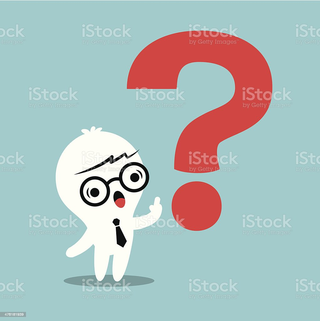 man with Question mark royalty-free stock vector art
