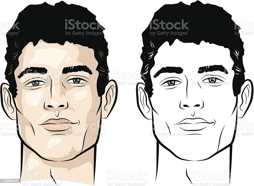 Man with short hair royalty-free man with short hair stock vector art & more images of 16-17 years