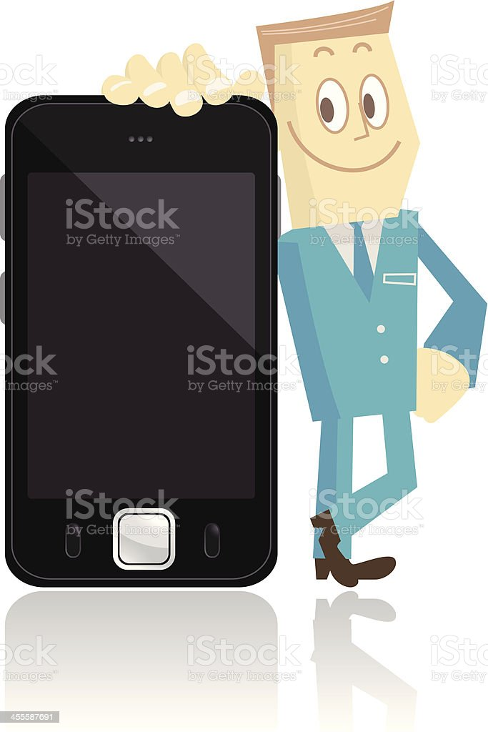 Man with smartphone royalty-free stock vector art
