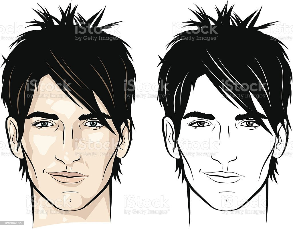 Man with spiky hair royalty-free man with spiky hair stock vector art & more images of 16-17 years