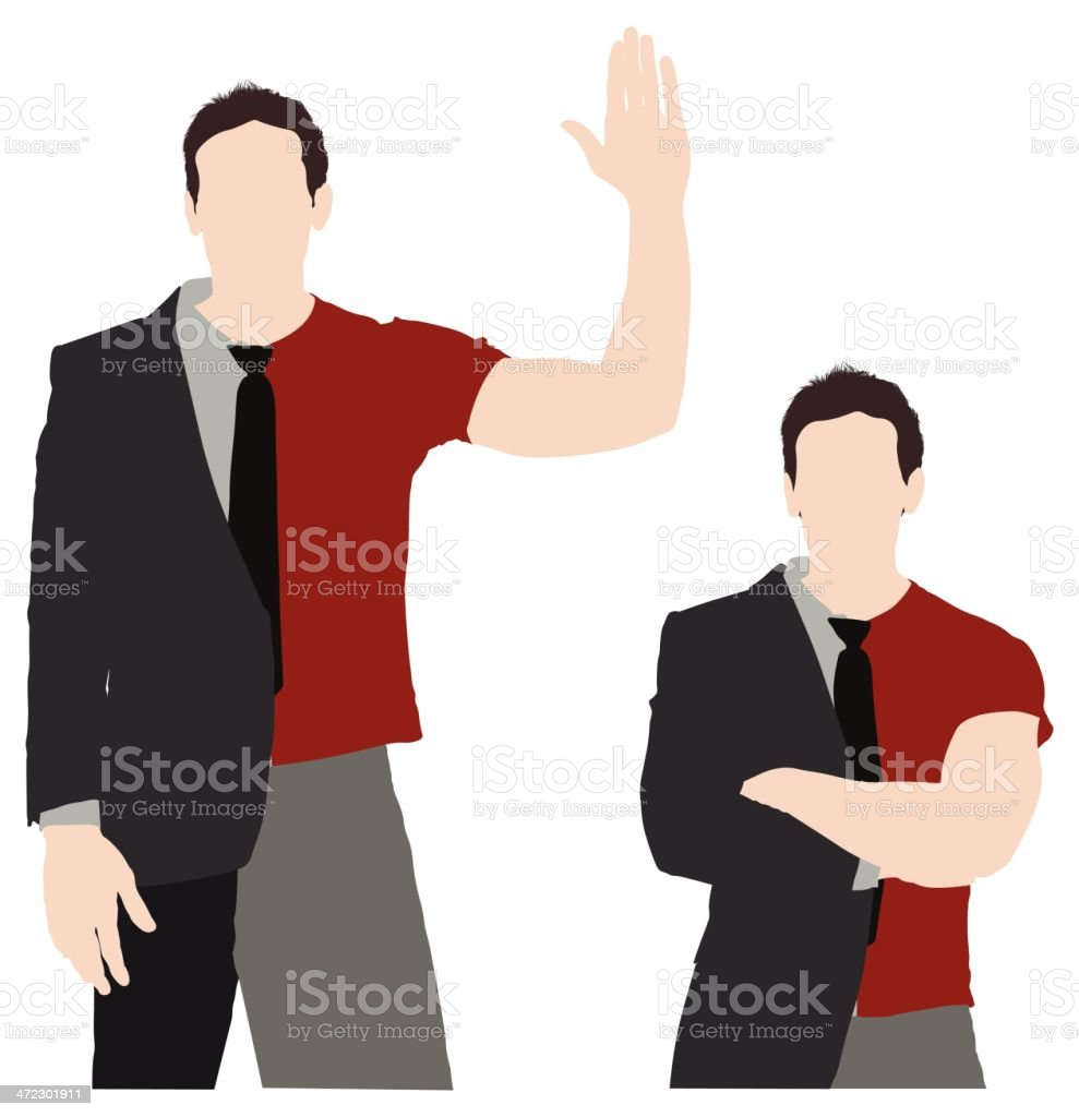 Man with split personality royalty-free man with split personality stock vector art & more images of adult