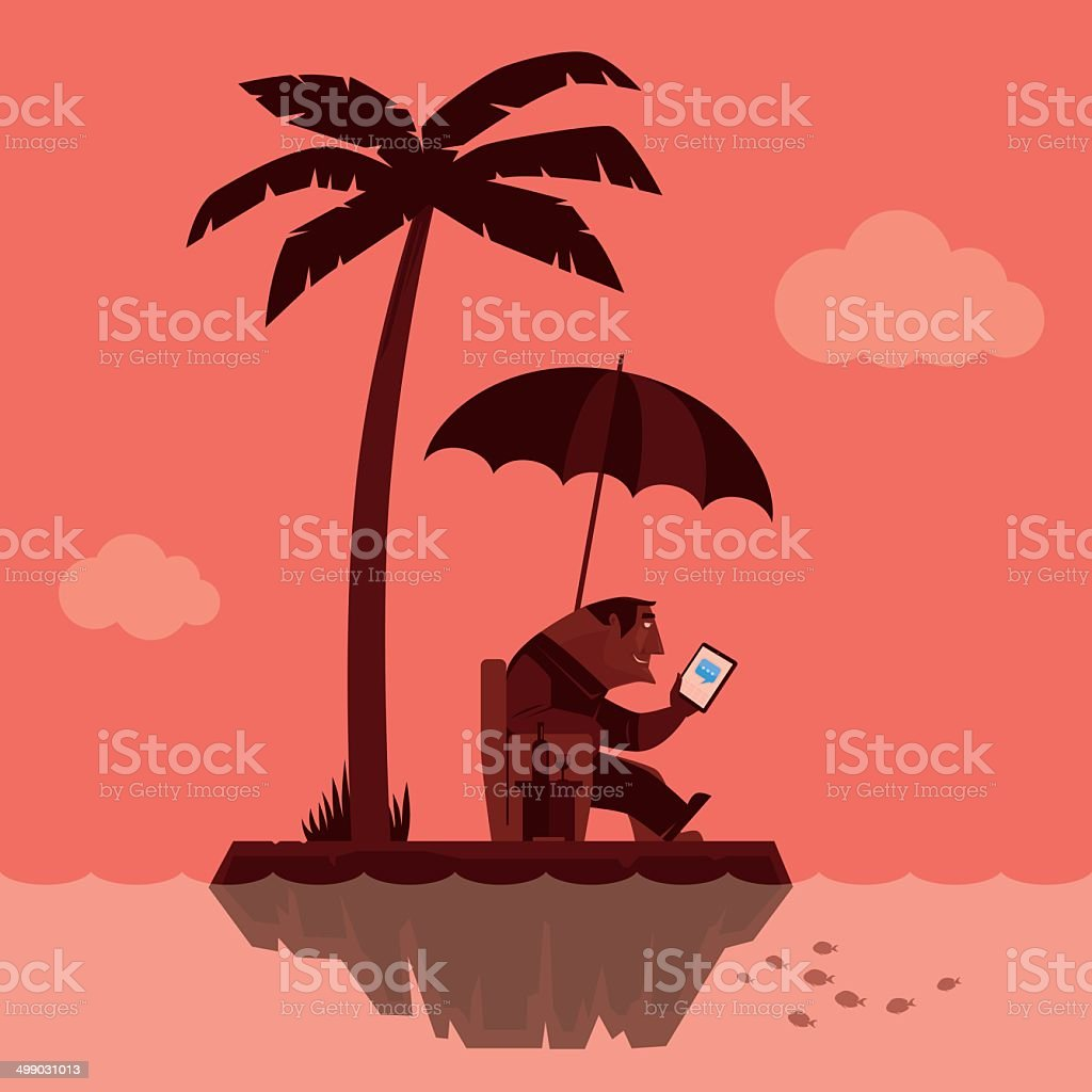 man with tablet computer royalty-free man with tablet computer stock vector art & more images of addiction