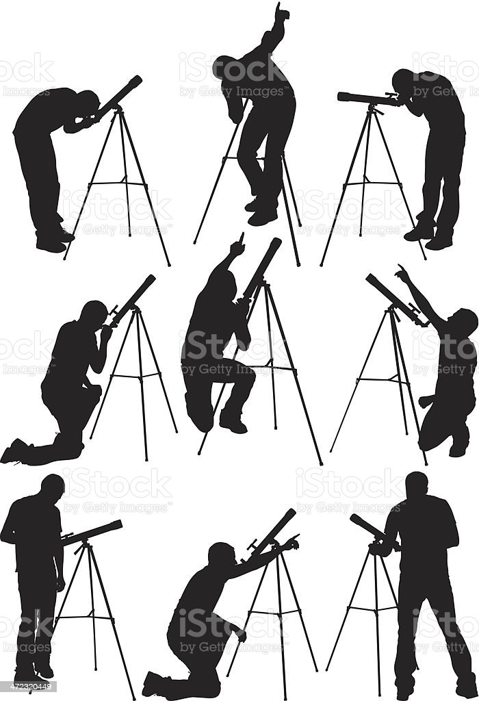 Man with telescope royalty-free man with telescope stock vector art & more images of adult