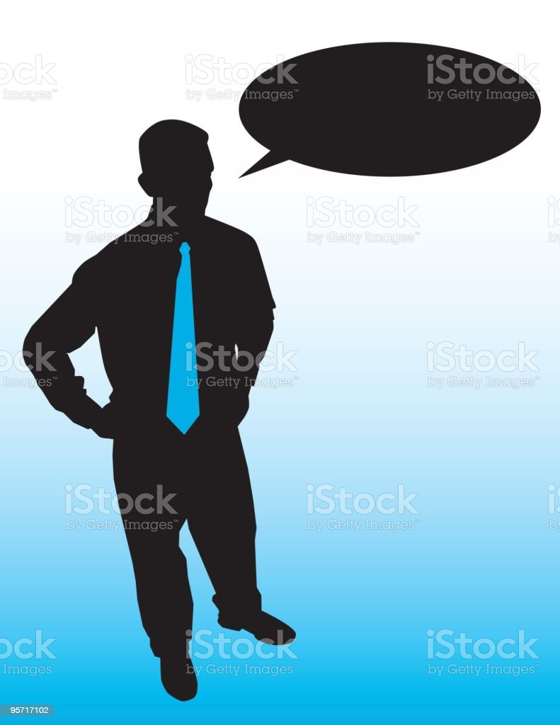 Man with Tie royalty-free stock vector art