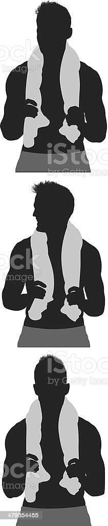 Man with towel royalty-free stock vector art