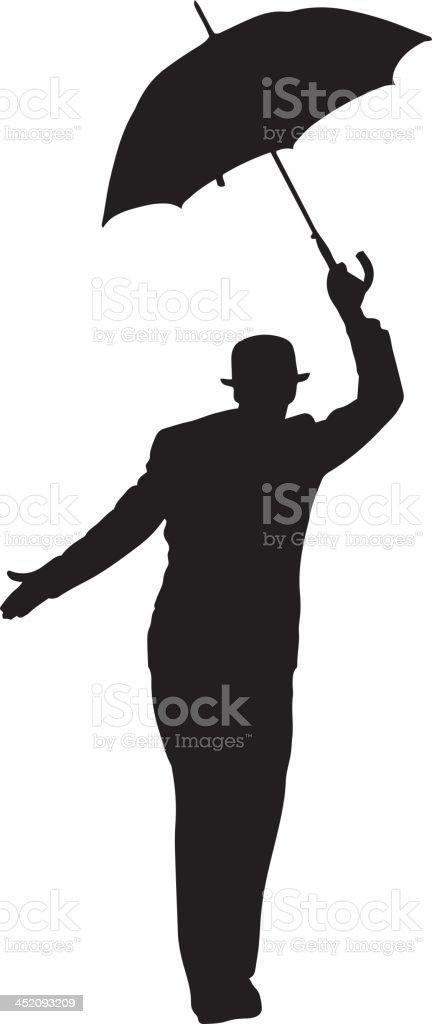 man with umbrella silhouette stock vector art amp more