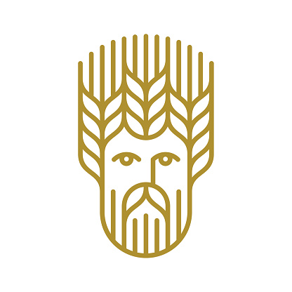 Man with wheat hairstyle