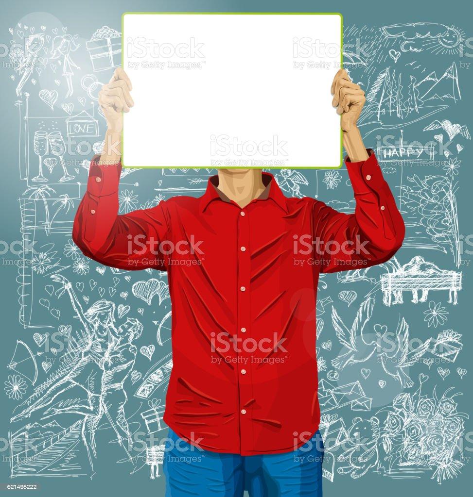 Uomo con bordo di scrittura con amore sfondo uomo con bordo di scrittura con amore sfondo - immagini vettoriali stock e altre immagini di adulto royalty-free