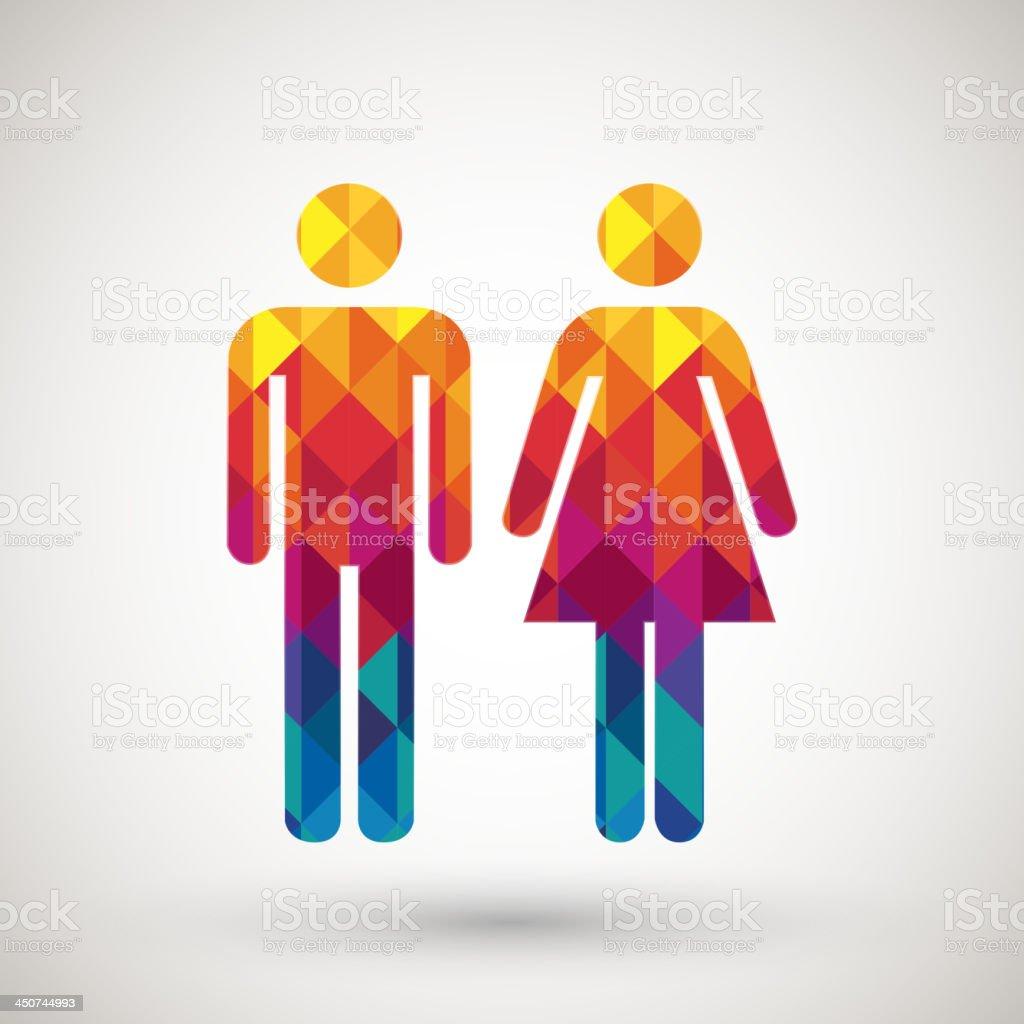 https://media.istockphoto.com/vectors/man-woman-restroom-sign-with-colorful-diamond-vector-id450744993