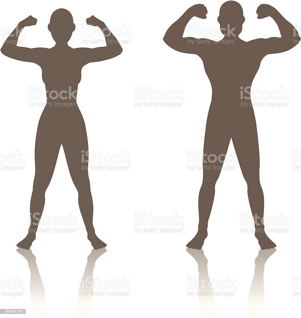 Man Woman Strength royalty-free stock vector art
