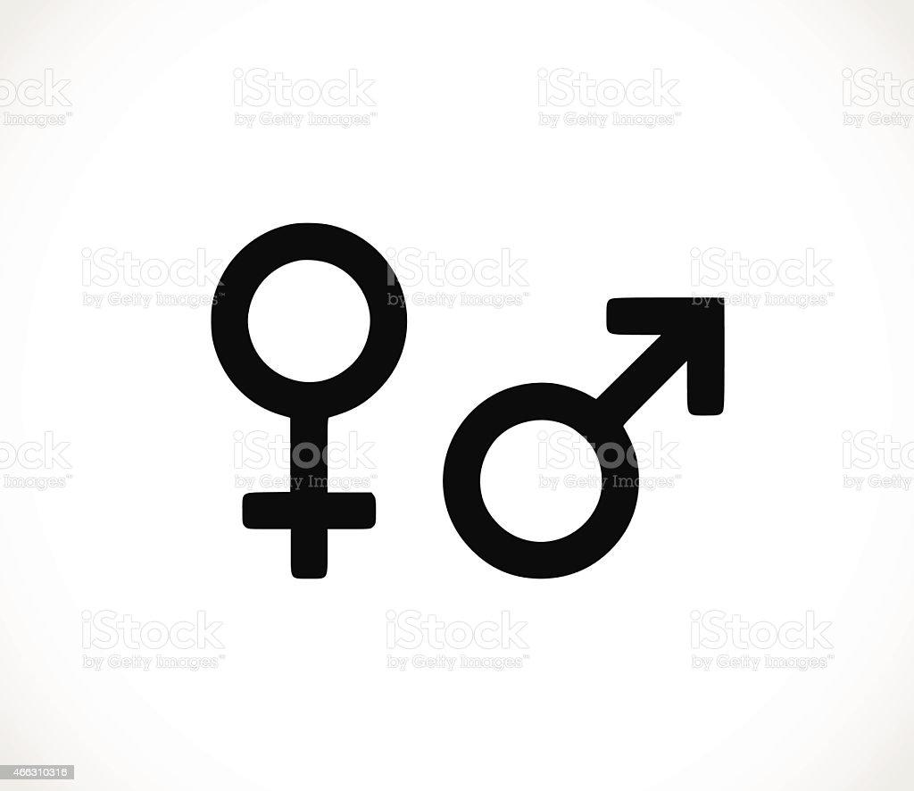 Mannfrausymbol Symbol Vektorillustration Stock Vektor Art