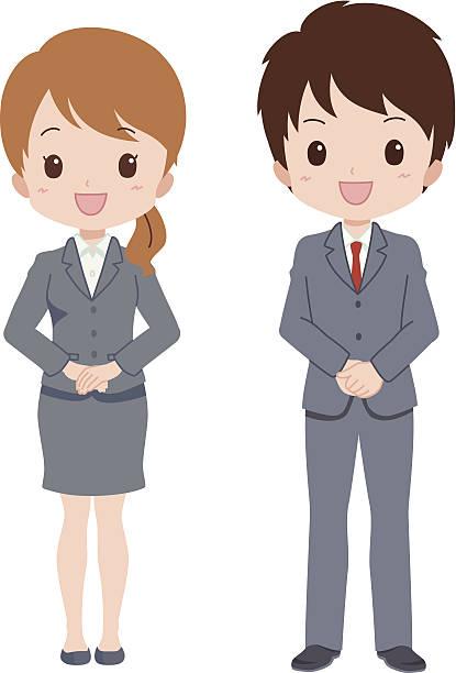 男性女性 - 受付係点のイラスト素材/クリップアート素材/マンガ素材/アイコン素材