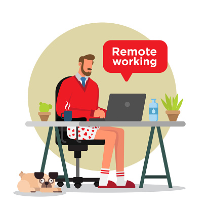 Man working from home.