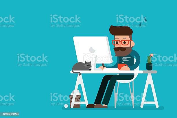 Man working on computer vector id489608856?b=1&k=6&m=489608856&s=612x612&h=z2usjhrjg q21dlc4p1bqymuxdkos8cotrcyt nbibq=