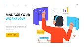 istock Manage your workflow concept 1323853114