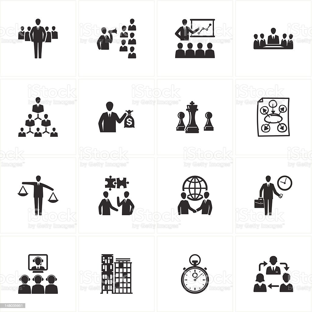 Management and Business Icons royalty-free stock vector art