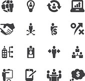 Management and Business Silhouette icons| EPS10