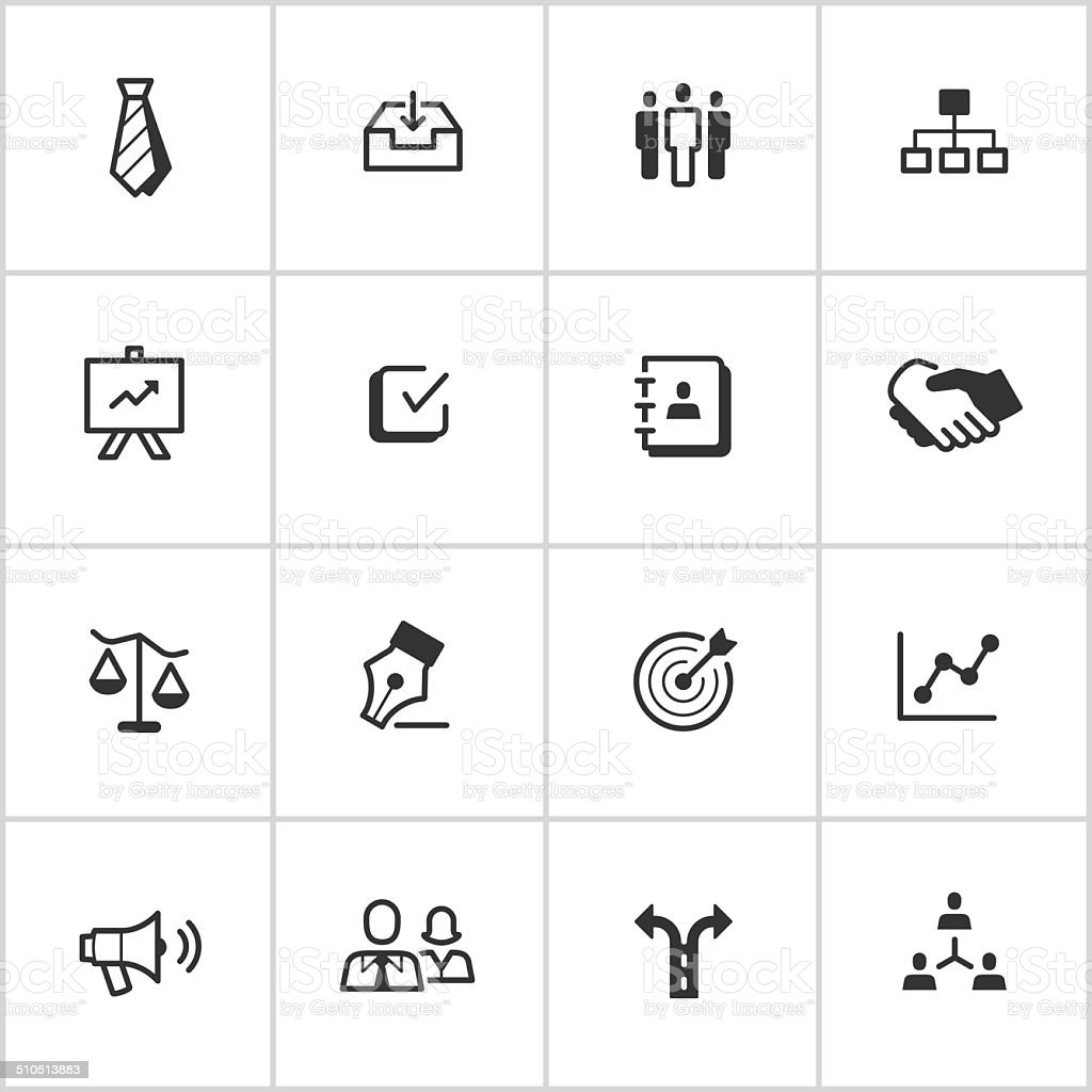 Management Icons — Inky Series vector art illustration