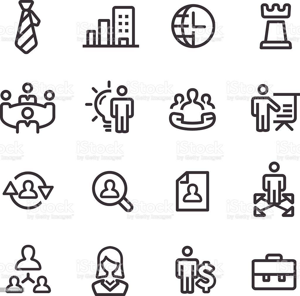 Management Icons - Line Series vector art illustration