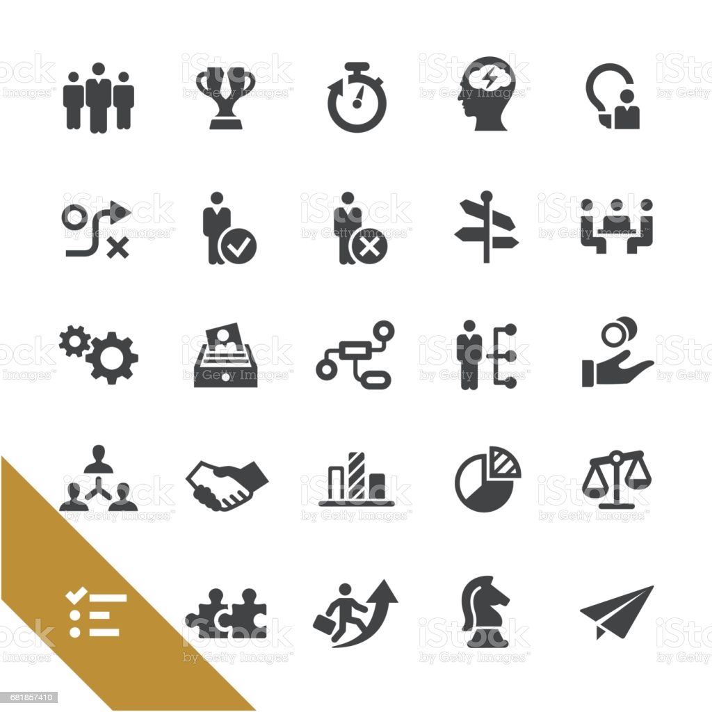 Management Icons - Select Series vector art illustration