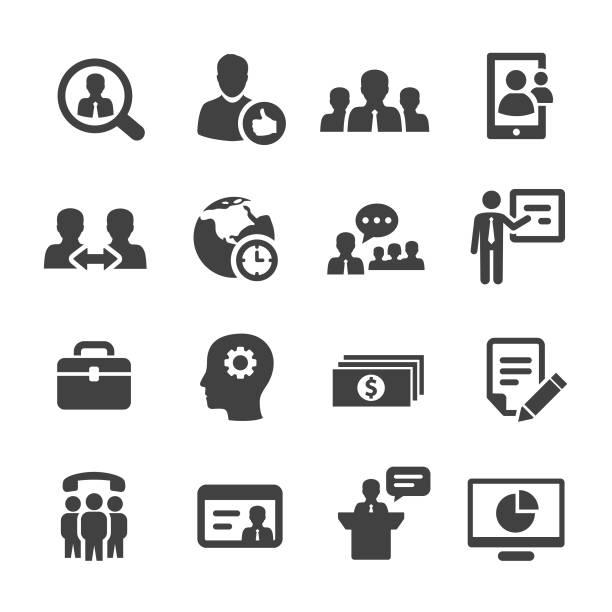 Management Icons Set - Acme Series vector art illustration