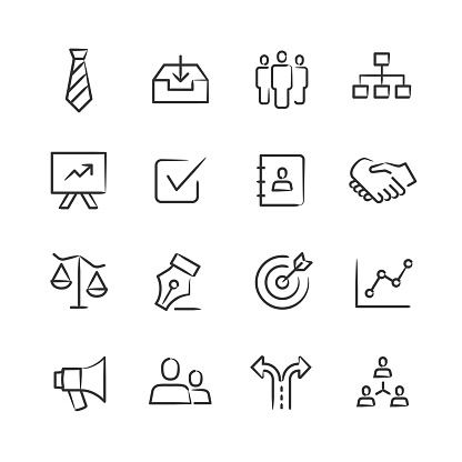 Management Icons — Sketchy Series