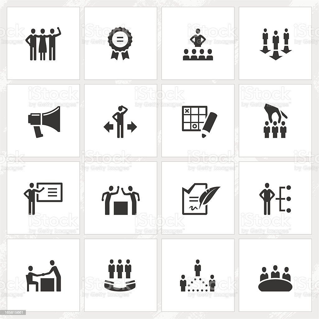 Management Icons royalty-free stock vector art