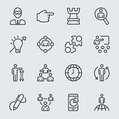 Management line icon