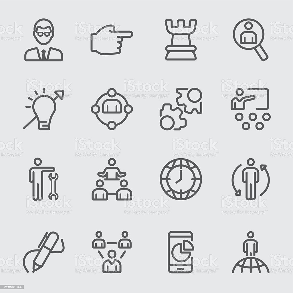Management line icon vector art illustration
