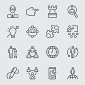 Management line icon