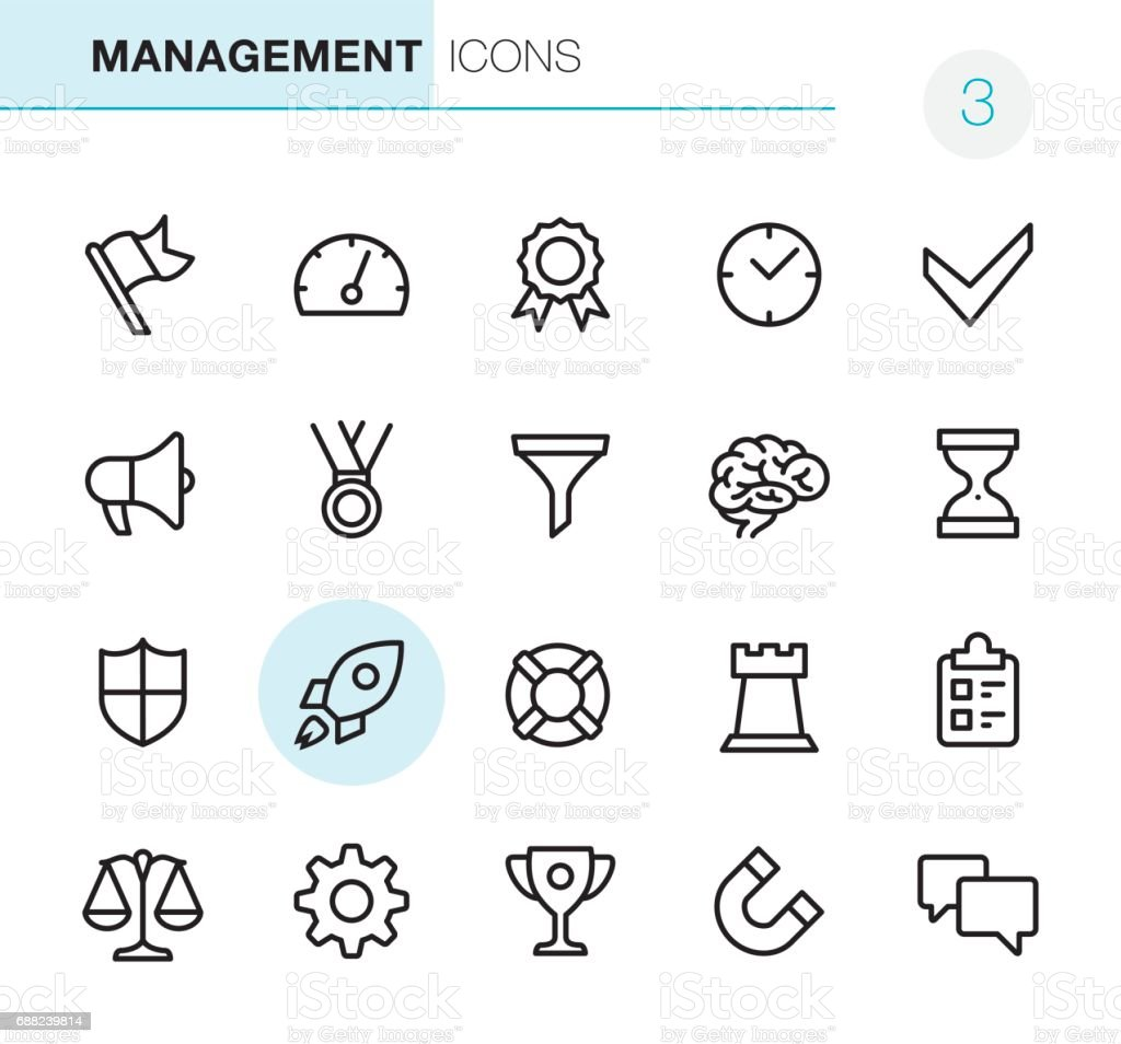 Management - Pixel Perfect icons vector art illustration