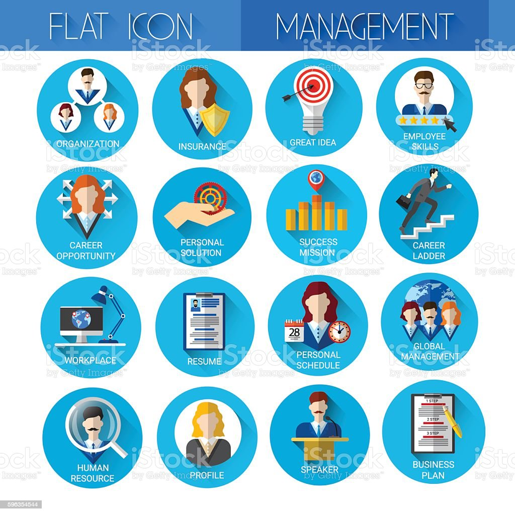 Management Set Business Icon Collection royalty-free management set business icon collection stock vector art & more images of business