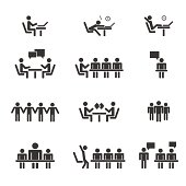 Management, human resources, business persons and users  Vector icons set